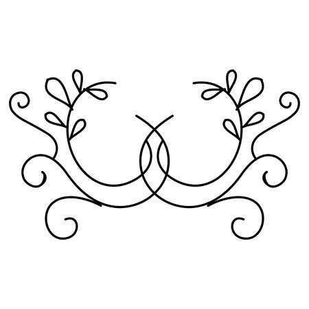 エレガントなビクトリア朝スタイルのデザインベクトルイラストデザイン