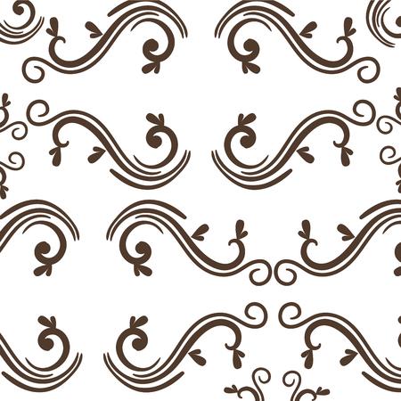 Elegantes viktorianisches Hintergrundvektor-Illustrationsdesign. Standard-Bild - 80338734