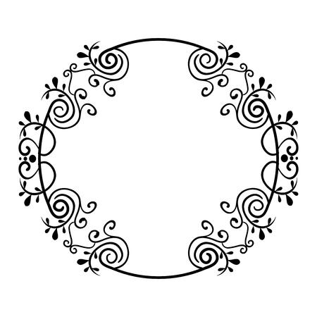 Elegant Victorian style frame vector illustration design Stock fotó - 80338623
