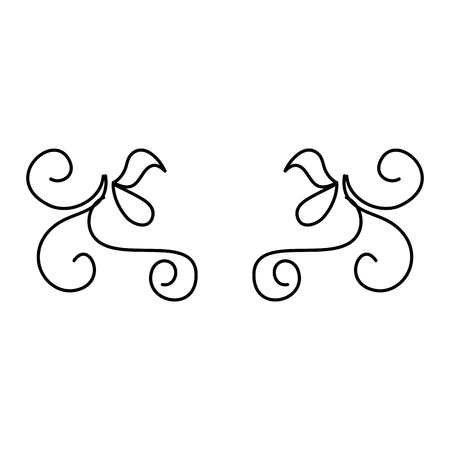 Elegantes viktorianisches Designvektor-Illustrationsdesign Standard-Bild - 80338593