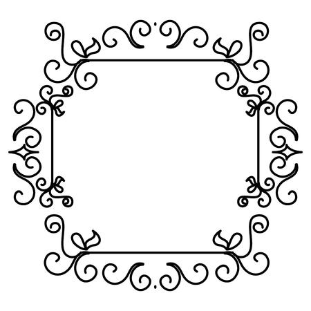 Eleganter viktorianischen Stil Rahmen Vektor-Illustration Design Standard-Bild - 80338596