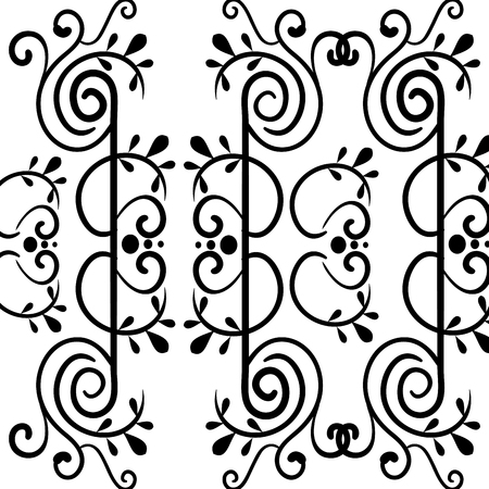Elegant Victorian style background vector illustration design.