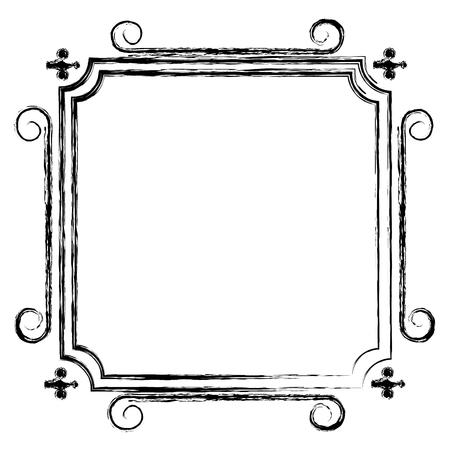 Elegante viktorianischen Stil Rahmen Vektor-Illustration Design Standard-Bild - 80341030