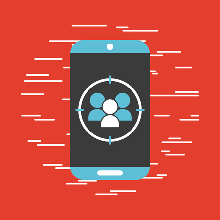 wireless connection: Cell contacts signal icon vector illustration design graphic.