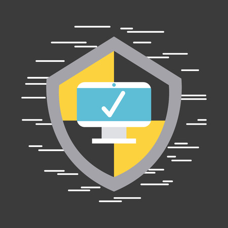 Antivirus computer program icon vector illustration design graphic