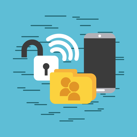 Cellular folders blocked signal icon vector illustration design graphic Illustration