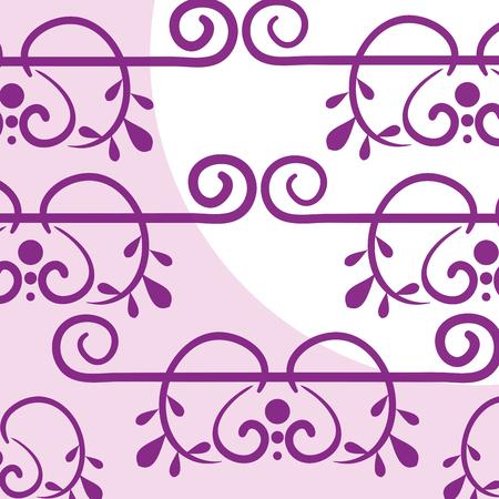 Elegant Victorian style background vector illustration design