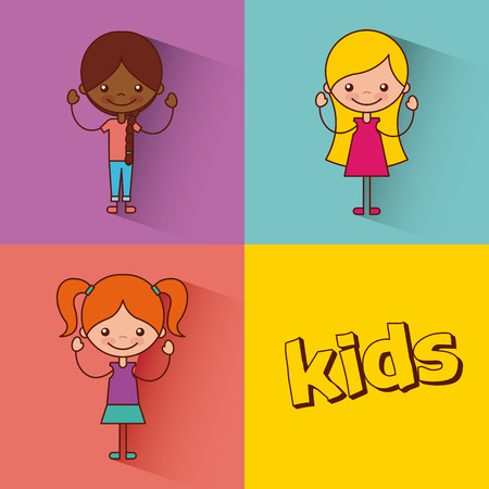 Kinder glücklich Abbildung Symbol Vektor-Illustration Grafik-Design Standard-Bild - 80341642