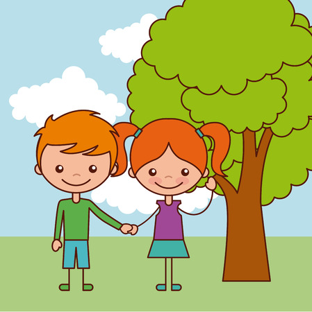 Kinder glücklich Abbildung Symbol Vektor-Illustration Grafik-Design Standard-Bild - 80346455