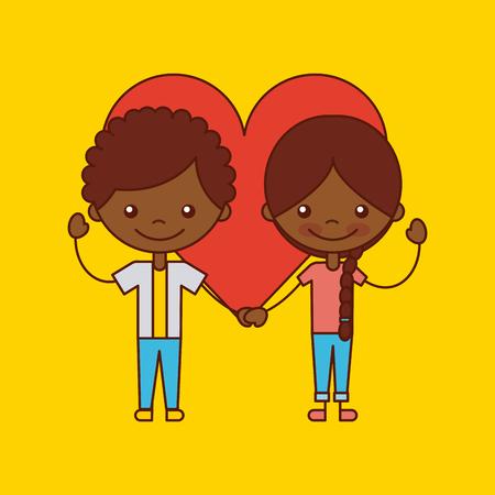 Happy friendship children icon vector illustration design graphic. Illustration