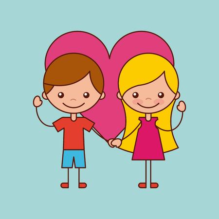 Happy friendship children icon vector illustration design graphic. Stock Vector - 80341672