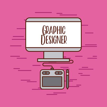 触覚グラフィック デザイナーのアイデアのアイコン ベクトル イラスト デザイン グラフィック  イラスト・ベクター素材