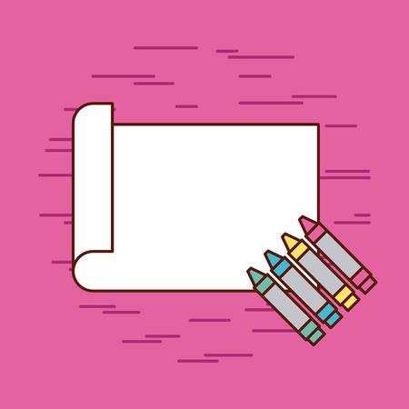 Het ontwerp van de het pictogram vectorillustratie van de potloden van kinderen kleurt