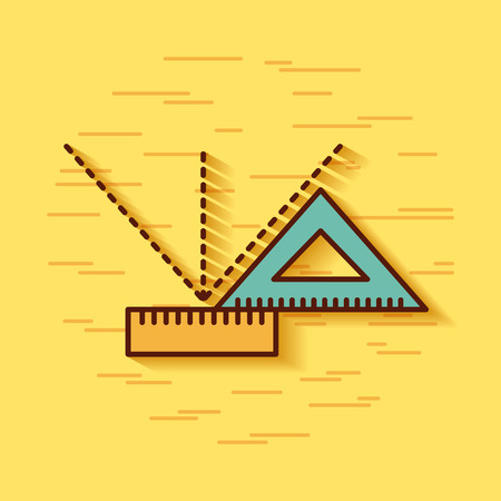 Geometric instruments school icon vector illustration design graphic Illustration