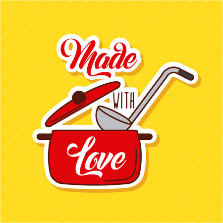 Made with love cooking icon vector illustration design graphic. Illustration