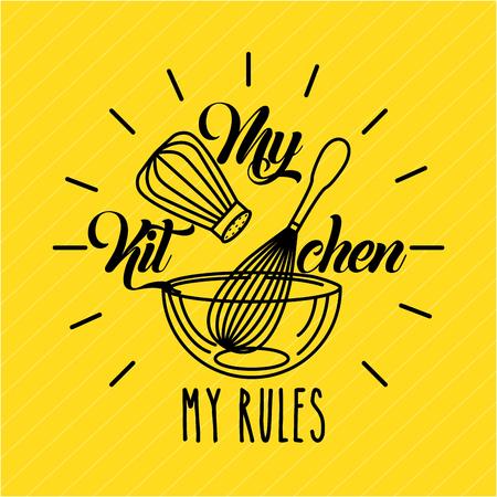 キッチン ルール フラット アイコン ベクトル イラスト デザイン グラフィック