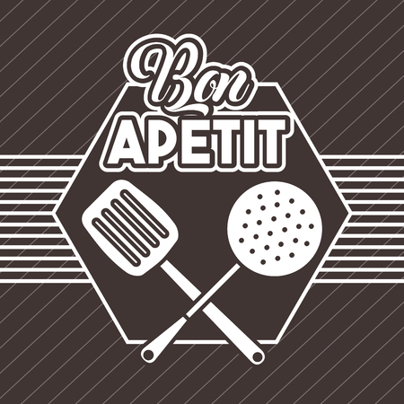 Bon appetit image icon vector illustration design graphic