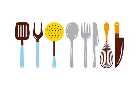 料理のレッスンはフラット アイコン ベクトル イラスト デザイン グラフィックです。