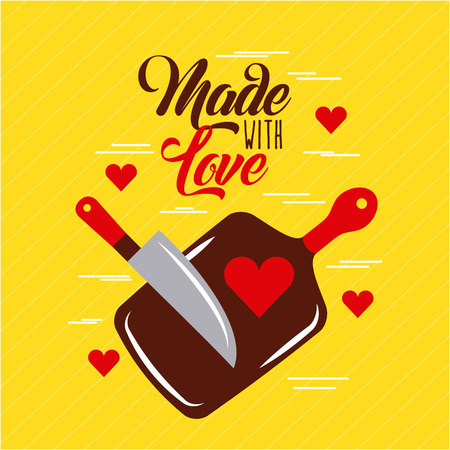 Made with love cooking icon vector illustration design graphic. Stock fotó - 80341719
