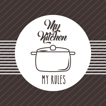 Kitchen rules flat icon vector illustration design graphic.