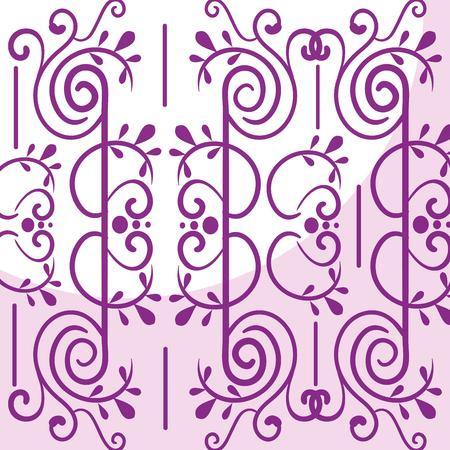 Elegantes viktorianisches Hintergrundvektor-Illustrationsdesign. Standard-Bild - 80341718