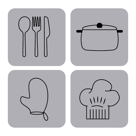 icons set cooking lessons vector illustration design graphic Stok Fotoğraf - 80346471