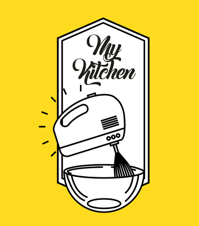 kitchen rules flat icon vector illustration design graphic
