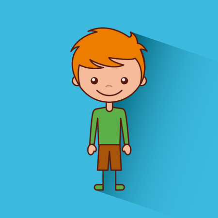 Glückliches Kind Symbol Symbol Vektor Design Grafik Standard-Bild - 80346499