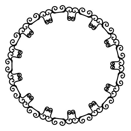 Elegante viktorianischen Stil Rahmen Vektor-Illustration Design Standard-Bild - 80346501