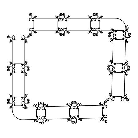 Eleganter viktorianischen Stil Rahmen Vektor-Illustration Design Standard-Bild - 80346503