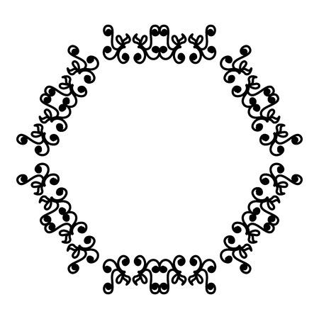 Elegant Victorian style frame vector illustration design