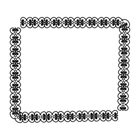 Eleganter viktorianischen Stil Rahmen Vektor-Illustration Design Standard-Bild - 80343743