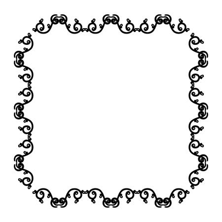 Eleganter viktorianischen Stil Rahmen Vektor-Illustration Design Standard-Bild - 80342004