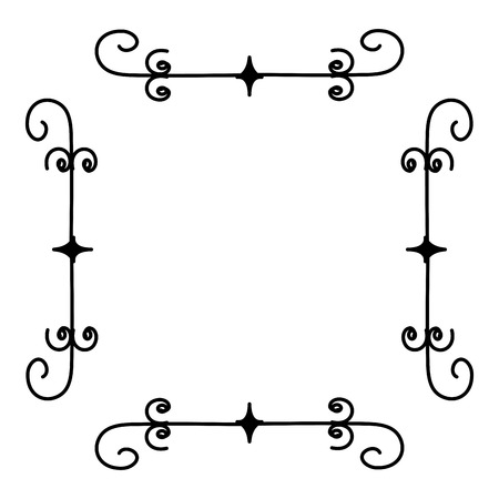victorian wallpaper: Elegant Victorian style frame vector illustration design