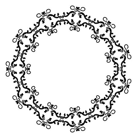 Eleganter viktorianischen Stil Rahmen Vektor-Illustration Design Standard-Bild - 80343757