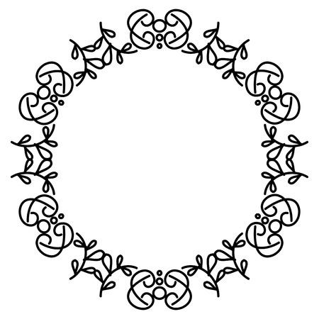 Elegante viktorianischen Stil Rahmen Vektor-Illustration Design Standard-Bild - 80343758