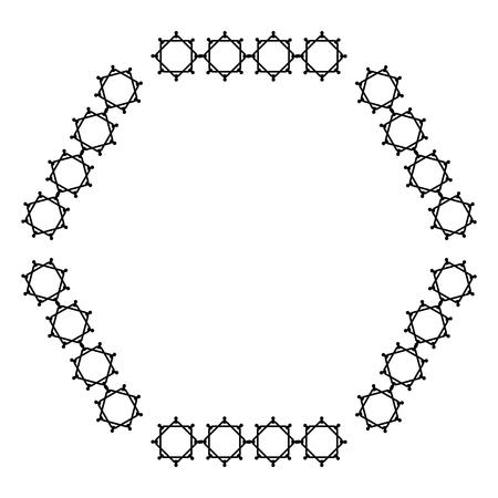Eleganter viktorianischen Stil Rahmen Vektor-Illustration Design Standard-Bild - 80343733
