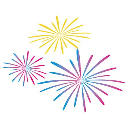 vuurwerk splash geïsoleerd pictogram vector illustratie ontwerp
