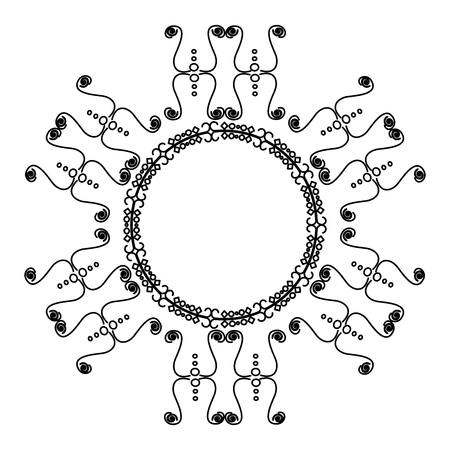 Elegant Victorian style frame vector illustration design