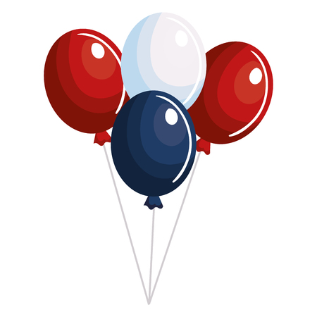 inflatable ball: balloons air party independence day vector illustration design