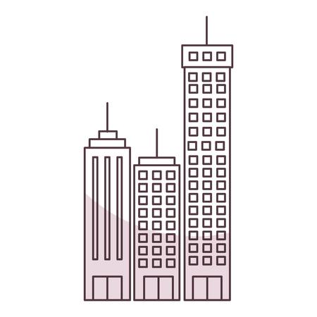 Edifici cityscape isolato icona illustrazione vettoriale illustrazione Archivio Fotografico - 80344434