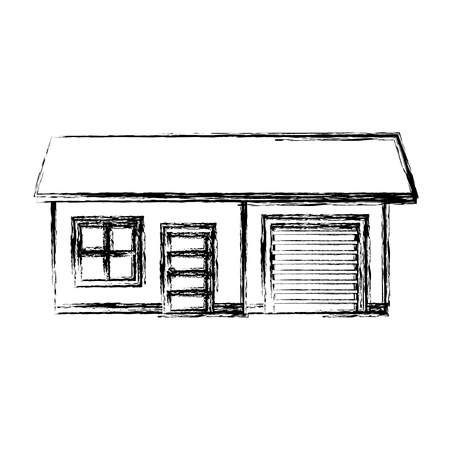 exterior house isolated icon vector illustration design Stock Photo