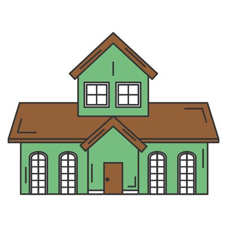 exterior house isolated icon vector illustration design Reklamní fotografie