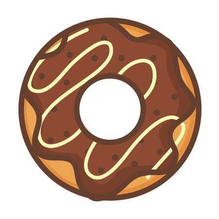 glazed: delicious sweet donut icon vector illustration design
