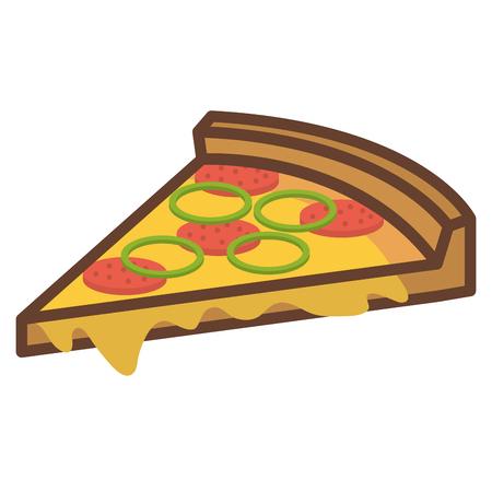 delicious italian pizza icon vector ilustration design