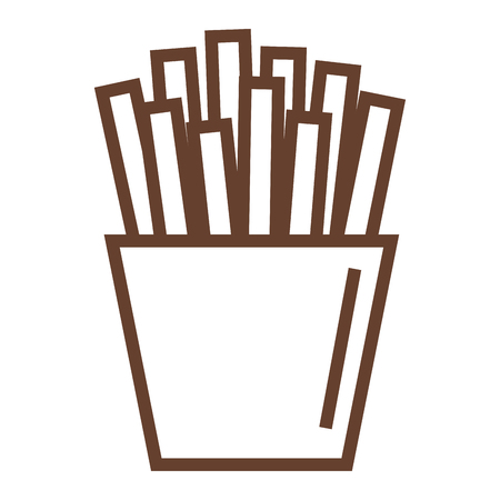 potatoes fries isolated icon vector ilustration design Ilustração