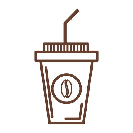 ilustration: delicious coffee in plastic cup vector ilustration design