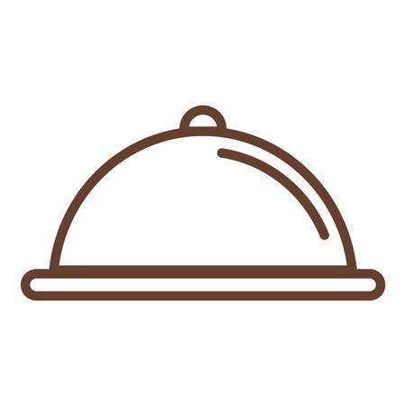 Plateau serveur isolé icône vecteur ilustration conception Banque d'images - 80349138