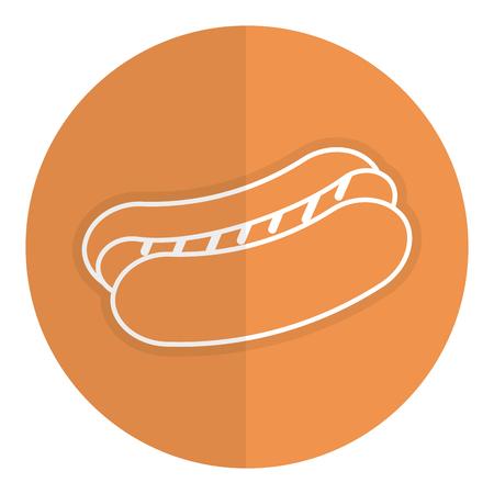 hot dog fast food icon vector ilustration design
