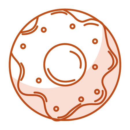 おいしい甘いドーナツ アイコン ベクトル イラスト デザイン